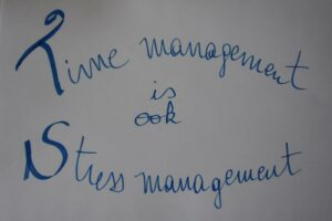 time management is ook stressmanagement